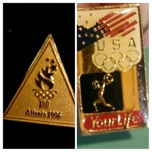 Collectible Vintage USA Olympic Pins